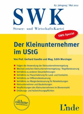 Publikation: SWK-Spezial: Der Kleinunternehmer im UStG